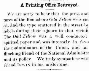 A Printing Office Destroyed.